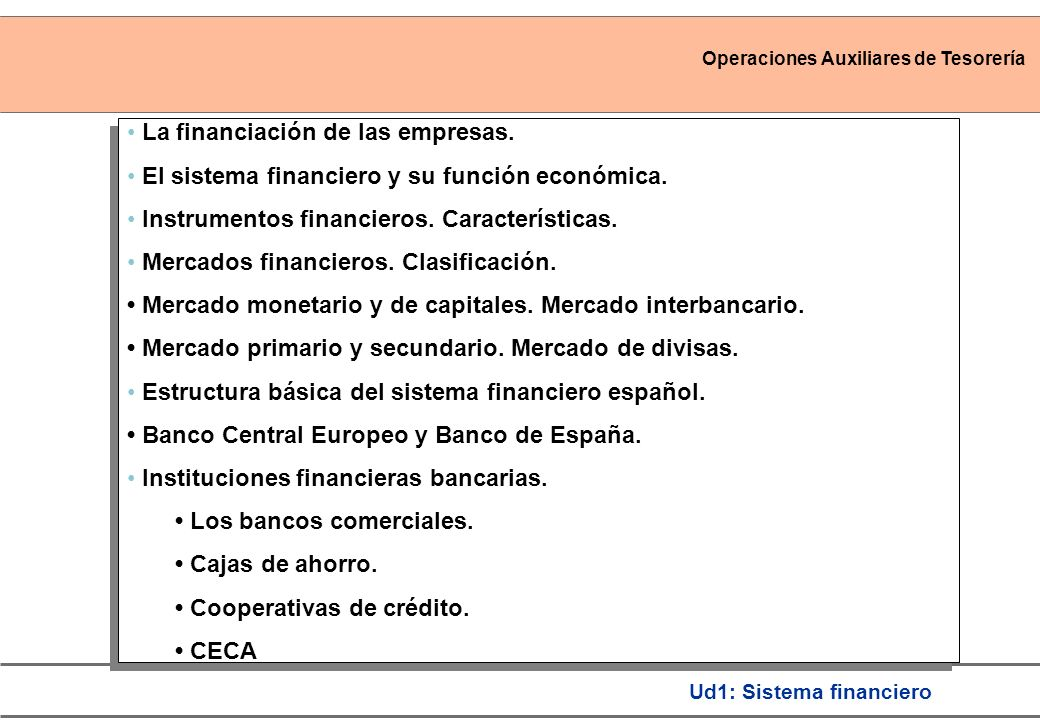 La financiación de las empresas.