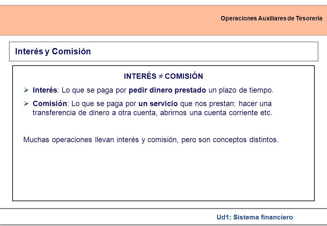 Interés y Comisión INTERÉS ≠ COMISIÓN