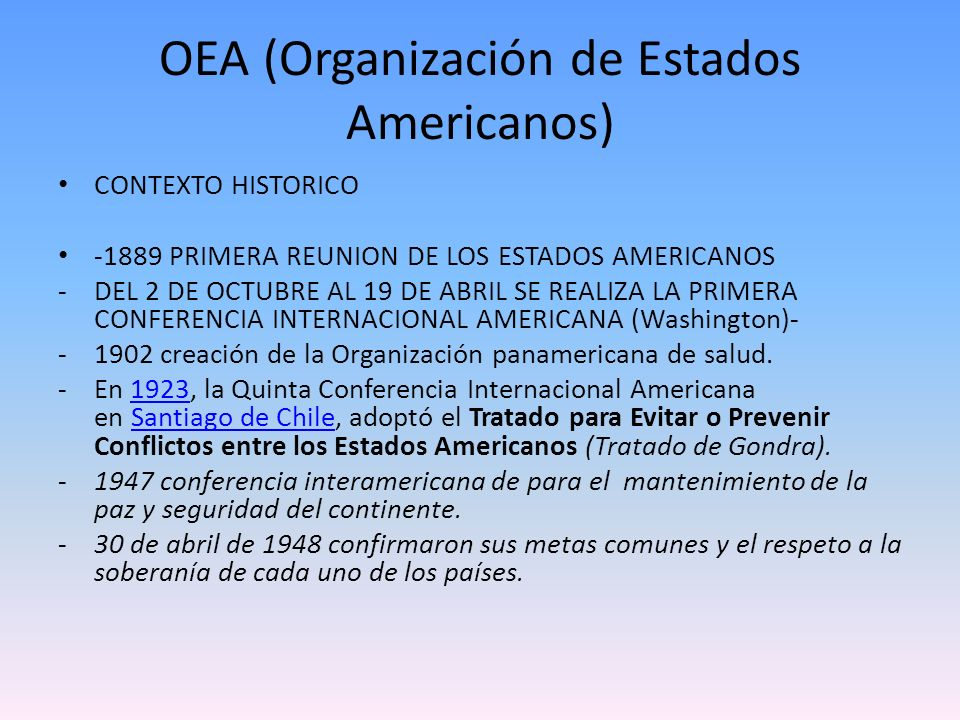 OEA (Organización de Estados Americanos)