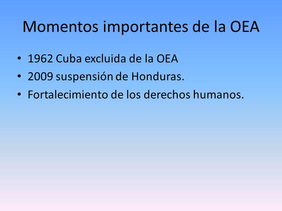 Momentos importantes de la OEA