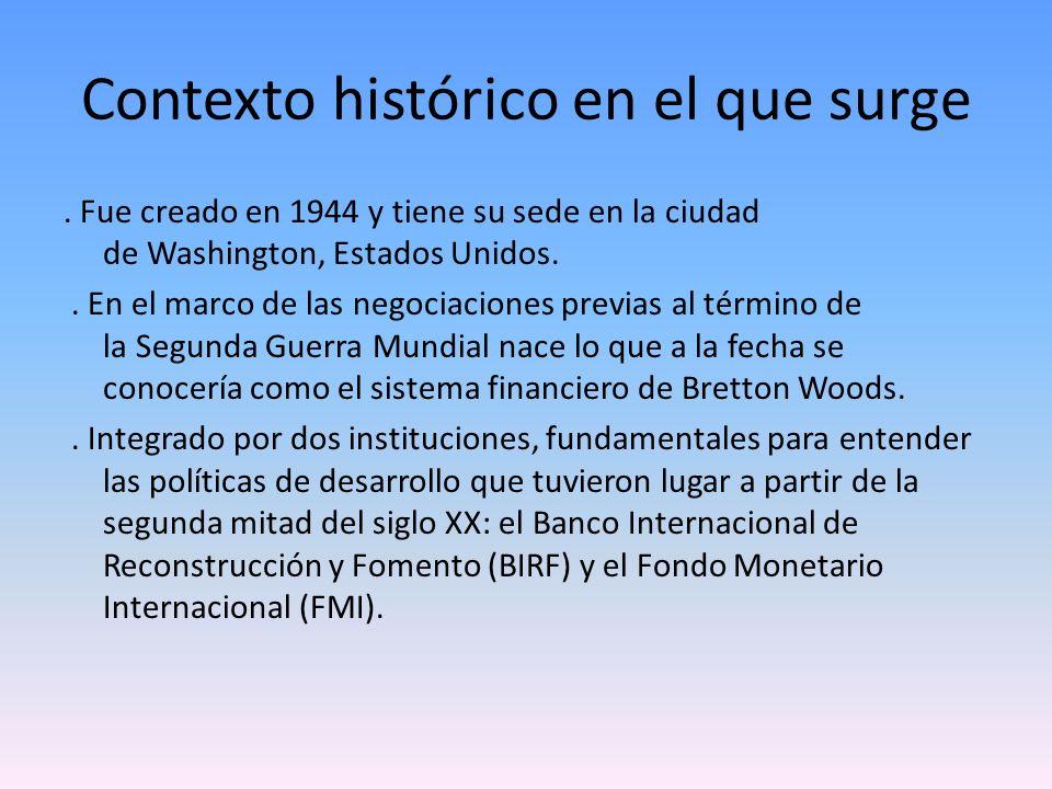 Contexto histórico en el que surge