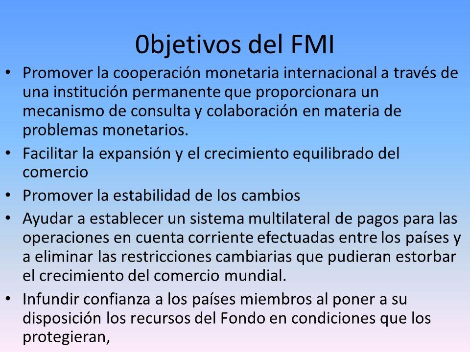 0bjetivos del FMI