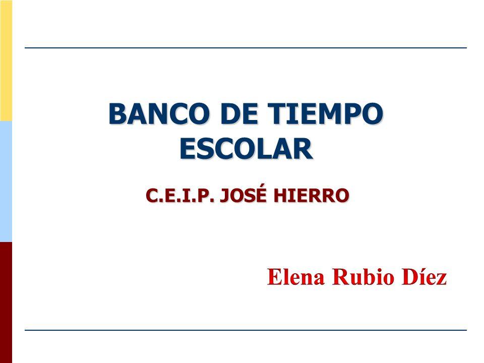 BANCO DE TIEMPO ESCOLAR