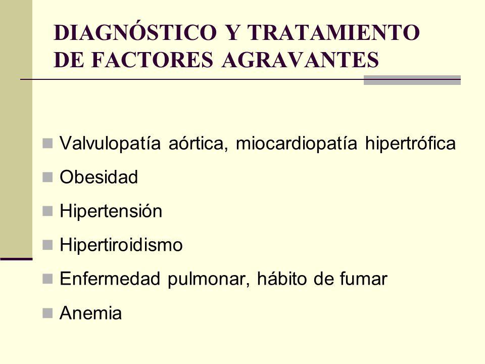 DIAGNÓSTICO Y TRATAMIENTO DE FACTORES AGRAVANTES