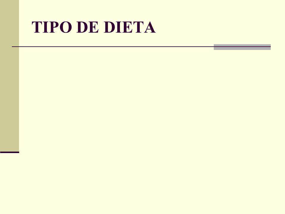 TIPO DE DIETA