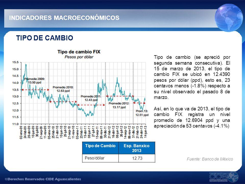 TIPO DE CAMBIO INDICADORES MACROECONÓMICOS