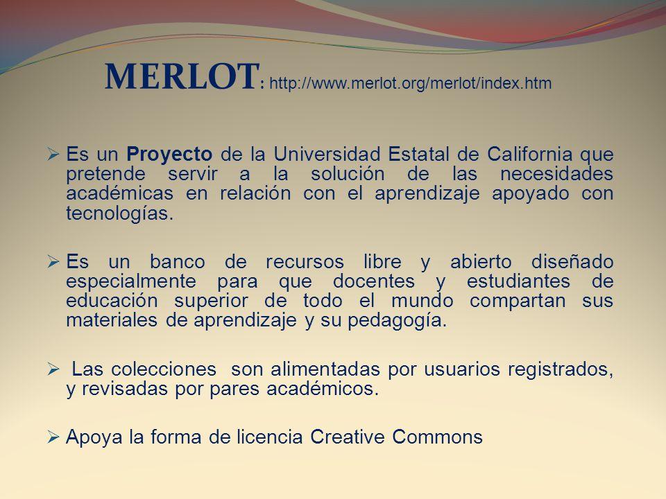 MERLOT: http://www.merlot.org/merlot/index.htm