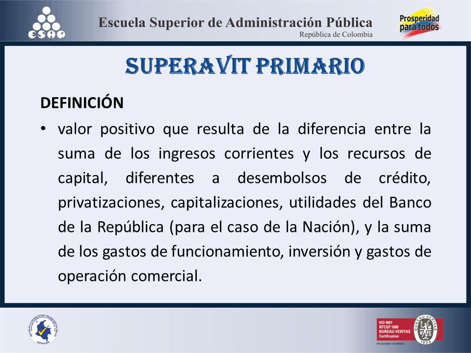 SUPERAVIT PRIMARIO DEFINICIÓN
