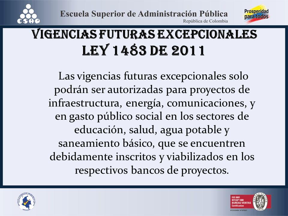 VIGENCIAS FUTURAS EXCEPCIONALES