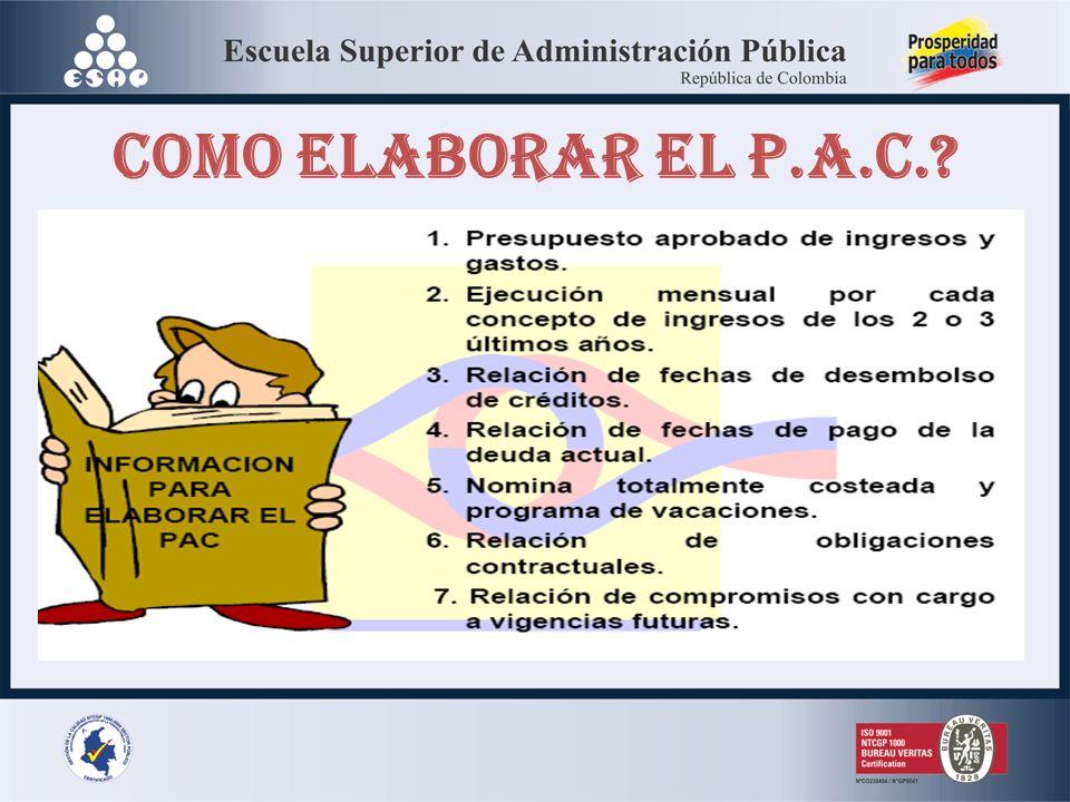 COMO ELABORAR EL P.A.C.