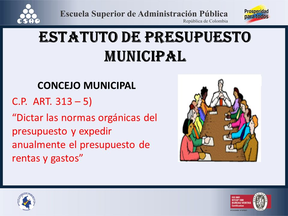 ESTATUTO DE PRESUPUESTO MUNICIPAL
