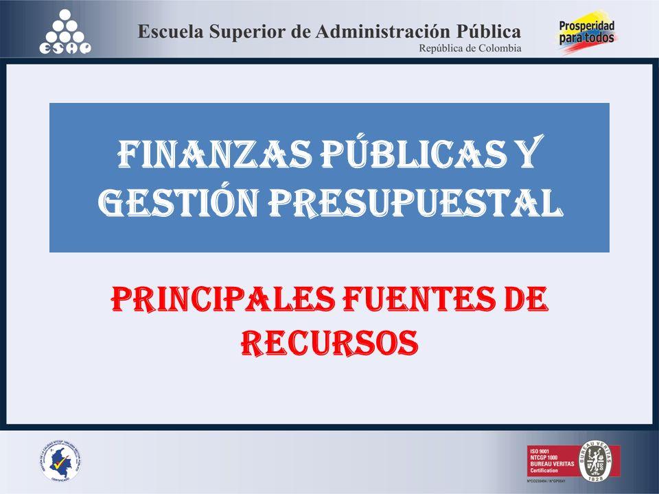 FINANZAS PÚBLICAS Y GESTIÓN PRESUPUESTAL