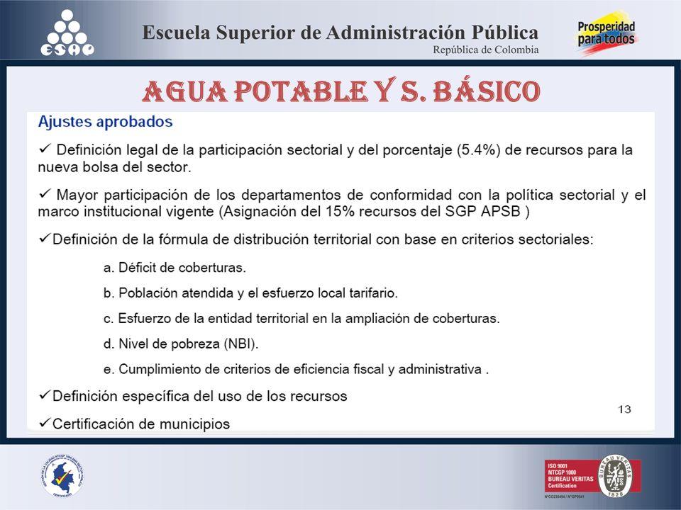 AGUA POTABLE Y S. BÁSICO