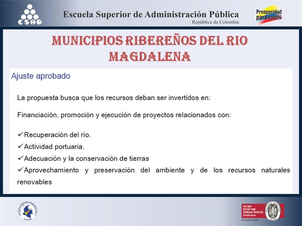 MUNICIPIOS RIBEREÑOS DEL RIO MAGDALENA