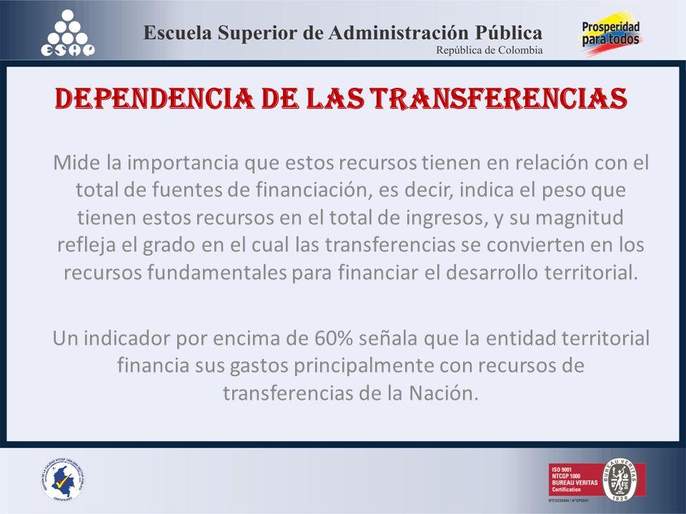 DEPENDENCIA DE LAS TRANSFERENCIAS