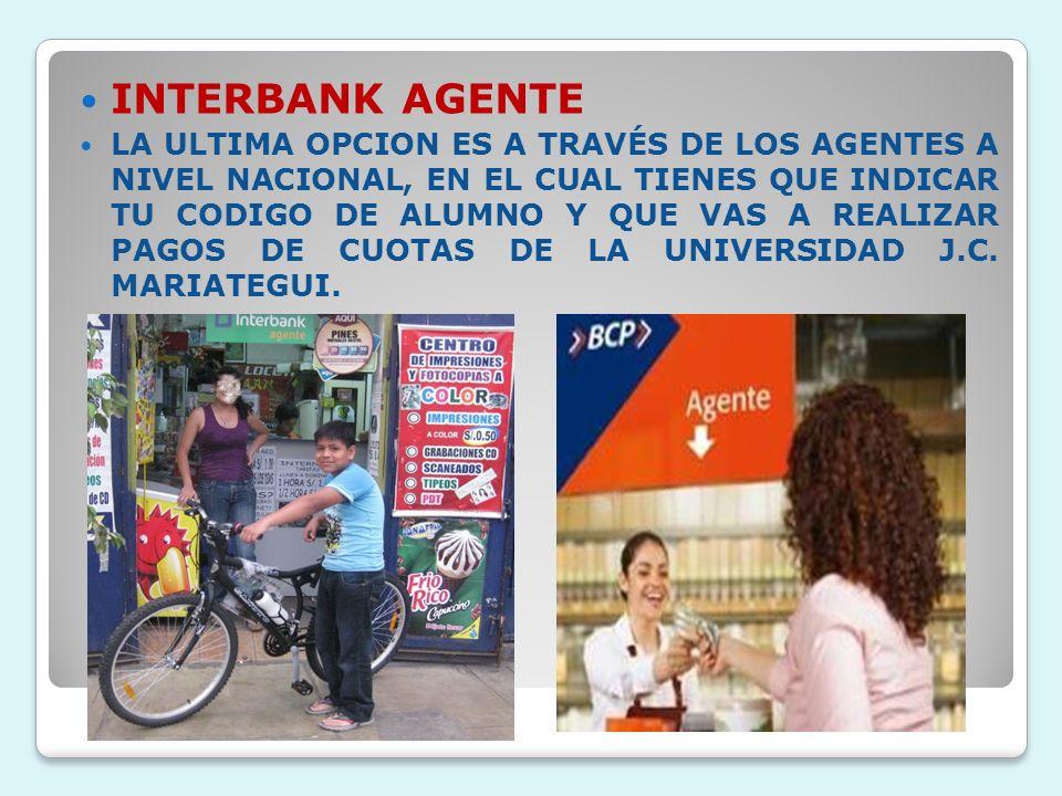 INTERBANK AGENTE