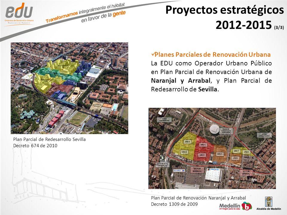 Proyectos estratégicos 2012-2015 (3/3)
