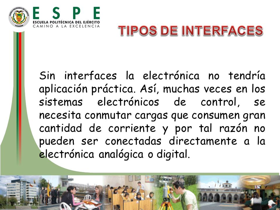 TIPOS DE INTERFACES