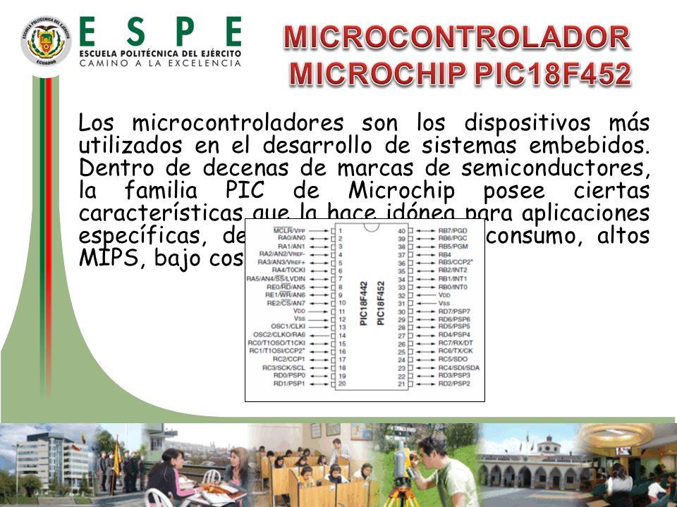 MICROCONTROLADOR MICROCHIP PIC18F452