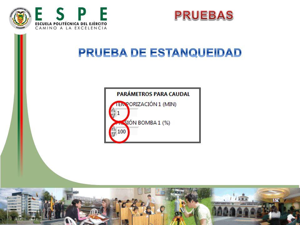 PRUEBA DE ESTANQUEIDAD