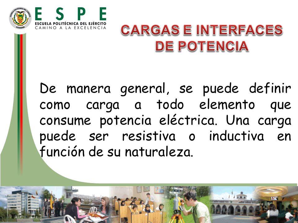 CARGAS E INTERFACES DE POTENCIA