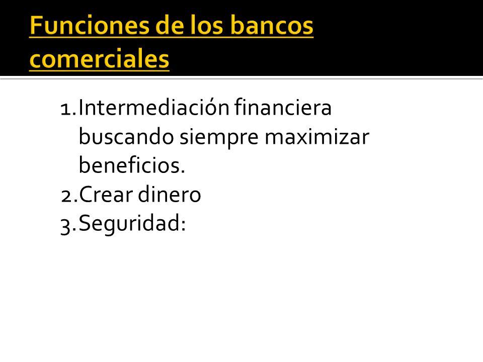 Funciones de los bancos comerciales