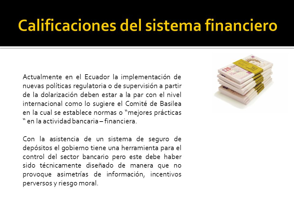 Calificaciones del sistema financiero