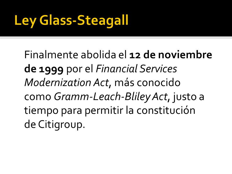 Ley Glass-Steagall