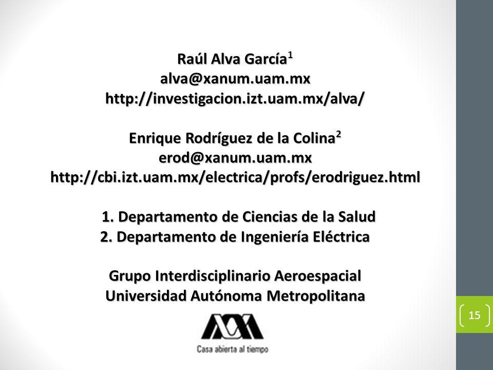 Enrique Rodríguez de la Colina2 erod@xanum.uam.mx