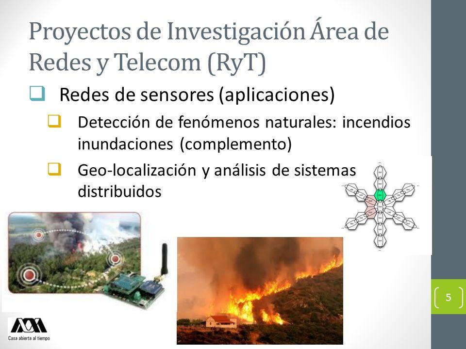 Proyectos de Investigación Área de Redes y Telecom (RyT)