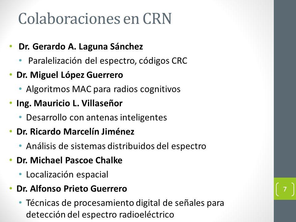 Colaboraciones en CRN Dr. Gerardo A. Laguna Sánchez