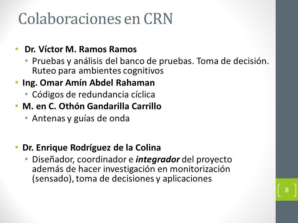 Colaboraciones en CRN Dr. Víctor M. Ramos Ramos