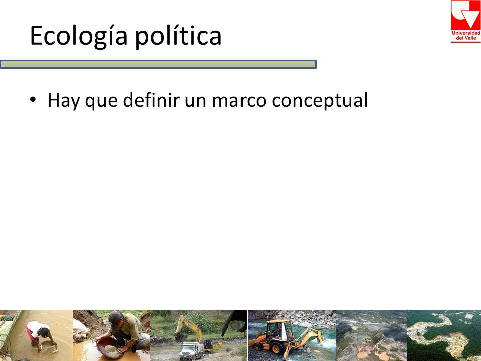 Ecología política Hay que definir un marco conceptual
