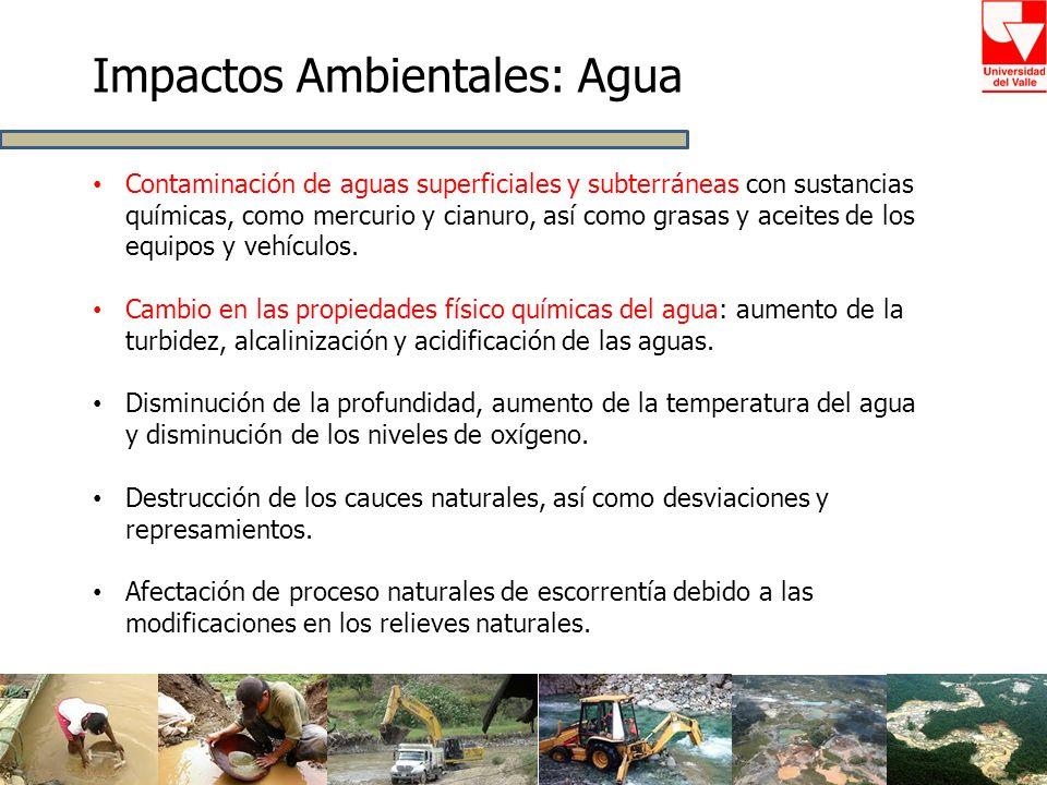 Impactos Ambientales: Agua