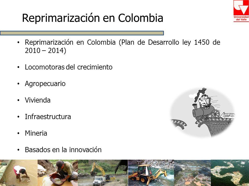 Reprimarización en Colombia