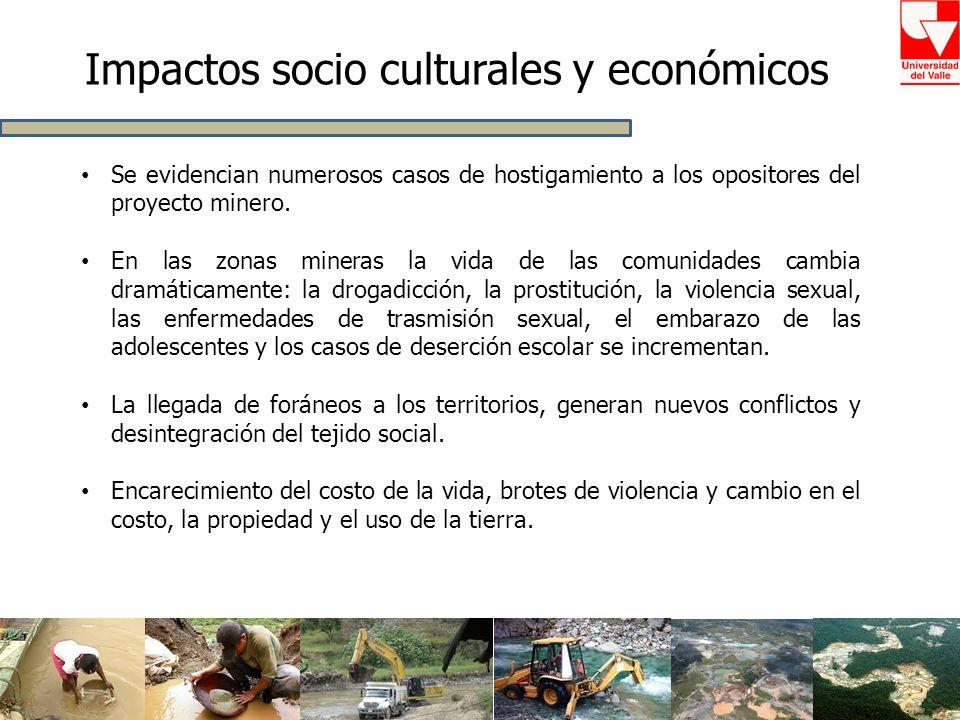 Impactos socio culturales y económicos
