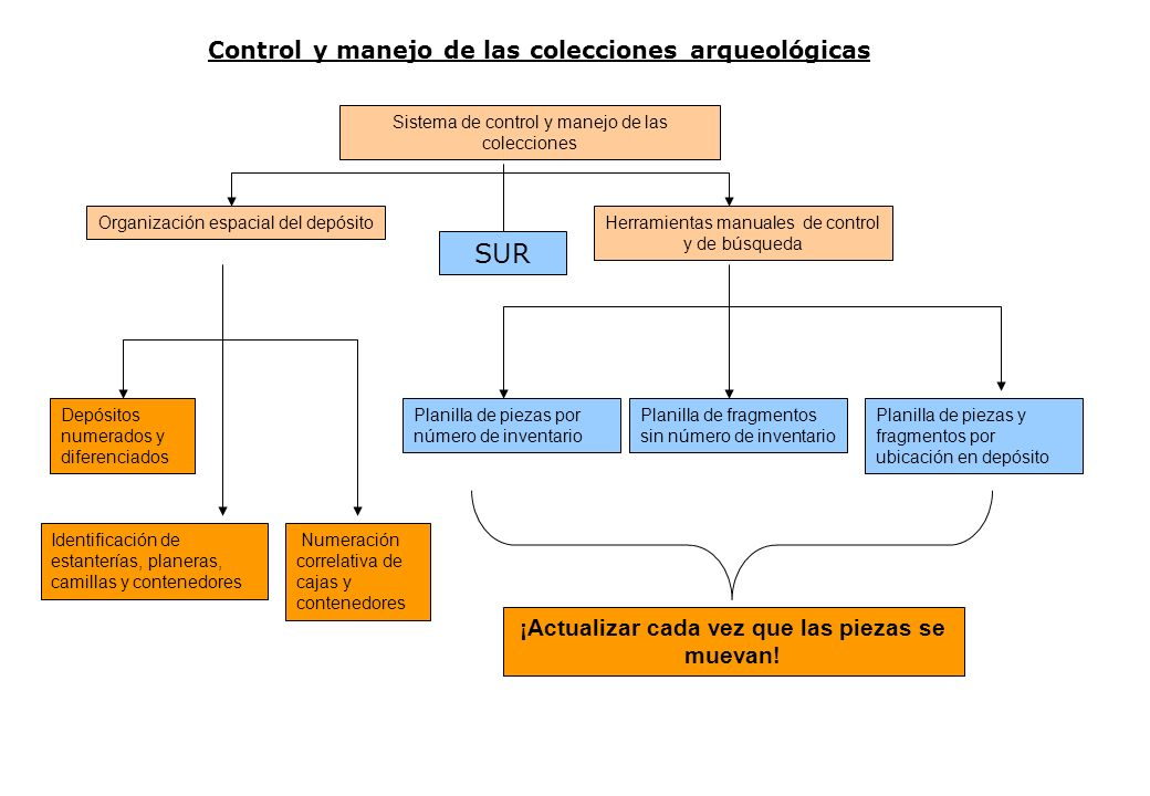 SUR Control y manejo de las colecciones arqueológicas