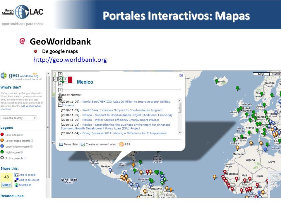 Portales Interactivos: Mapas
