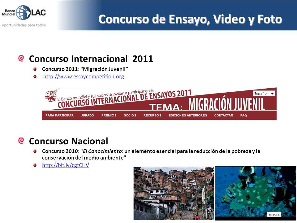 Concurso de Ensayo, Video y Foto