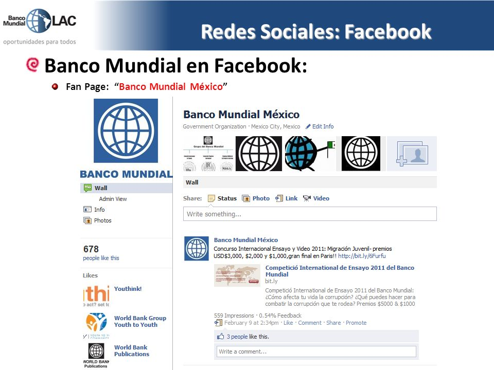 Redes Sociales: Facebook