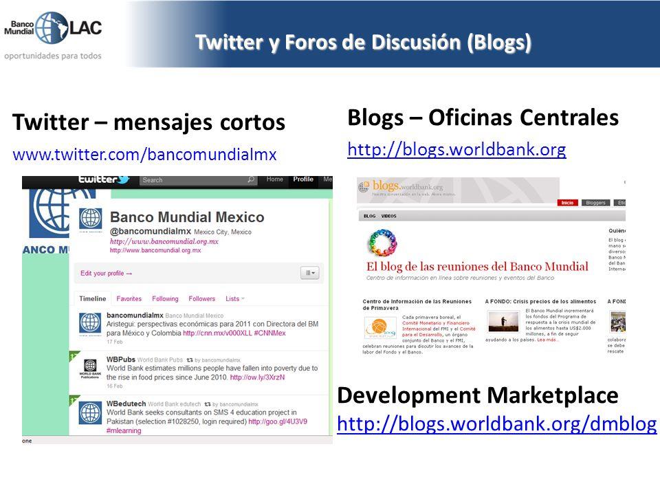 Twitter y Foros de Discusión (Blogs)