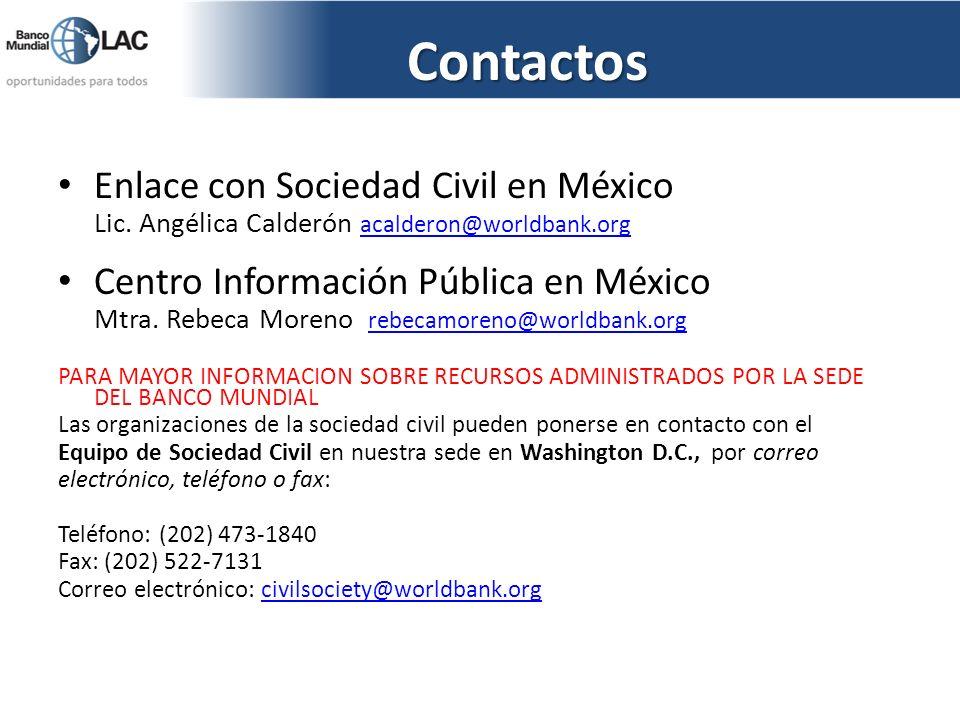 Contactos Enlace con Sociedad Civil en México