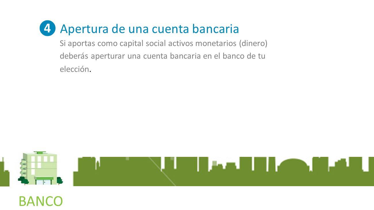 NOTARIA BANCO ❹ Apertura de una cuenta bancaria