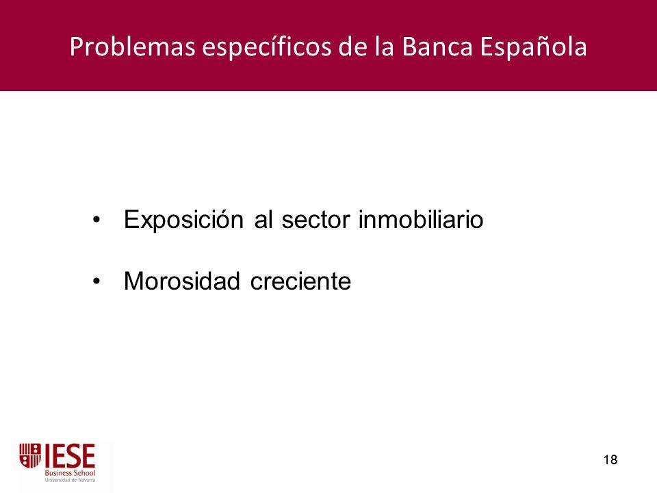 Problemas específicos de la Banca Española