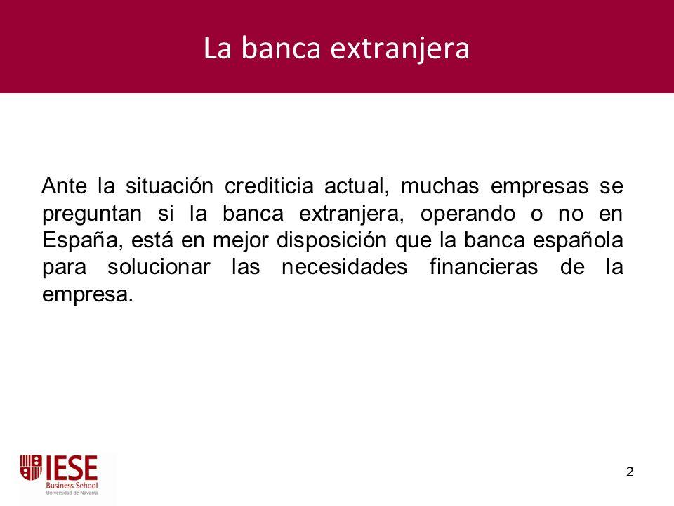 La banca extranjera