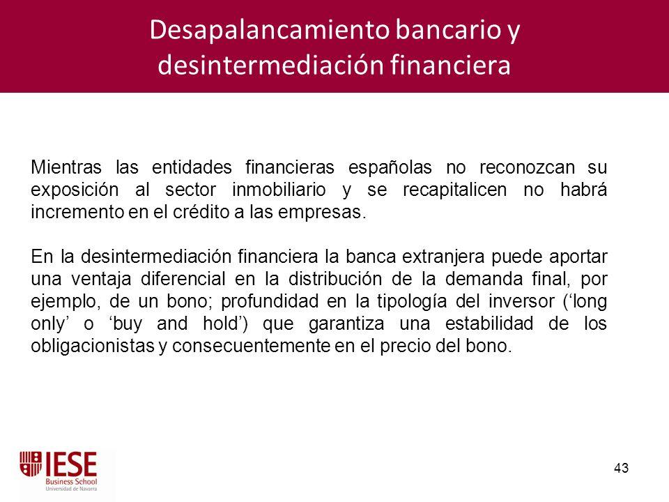 Desapalancamiento bancario y desintermediación financiera