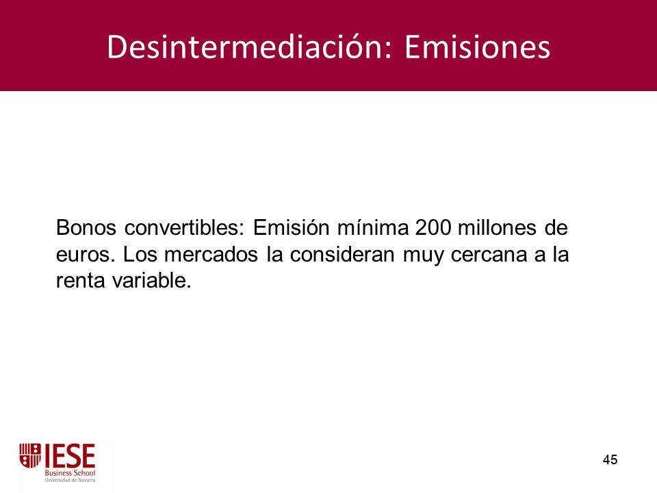 Desintermediación: Emisiones