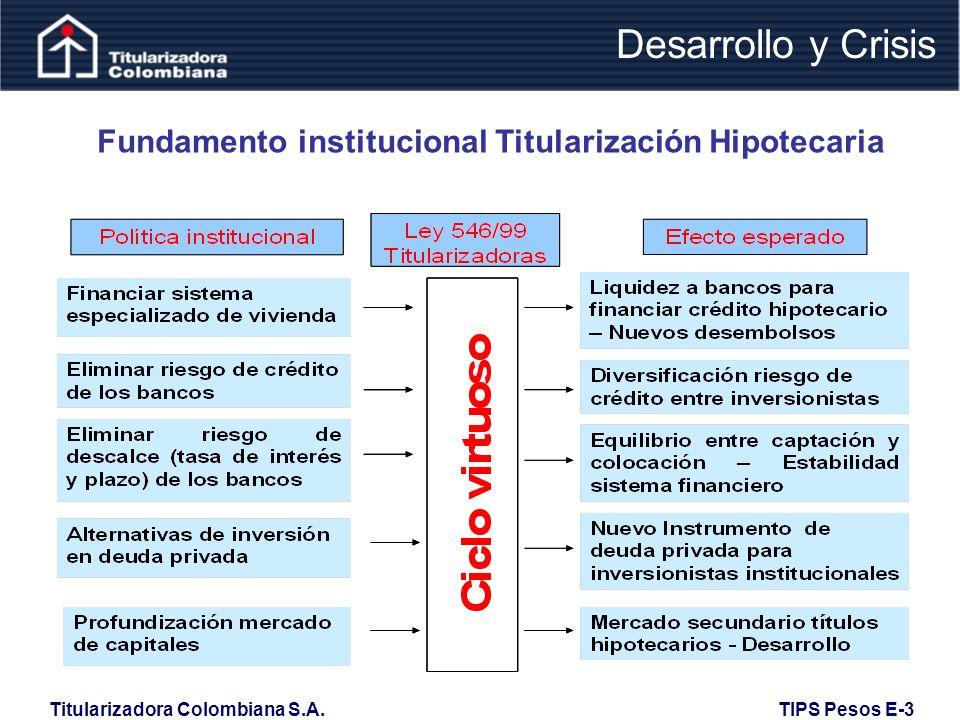 Fundamento institucional Titularización Hipotecaria
