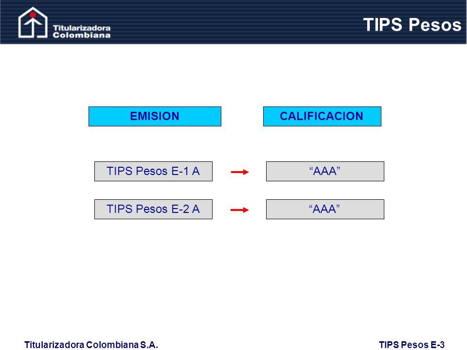 TIPS Pesos EMISION CALIFICACION TIPS Pesos E-1 A AAA