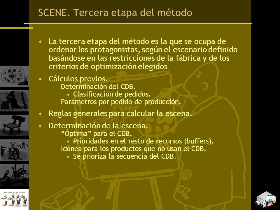 SCENE. Tercera etapa del método